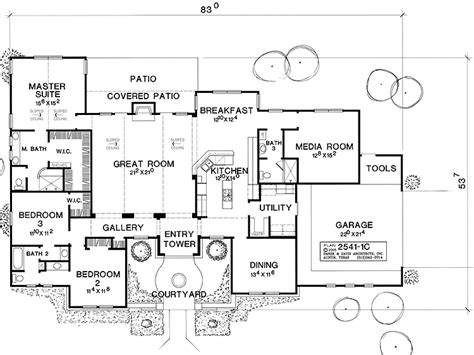 hacienda style floor plans impressive hacienda style house plans 10 hacienda style