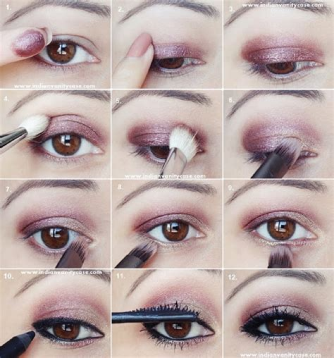 tutorial makeup basic simple eye makeup tutorial step by step www pixshark com