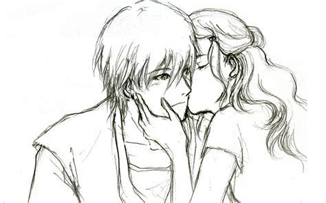 cute love drawings   romantic sad couple
