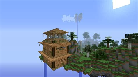 house in the sky sky house minecraft project