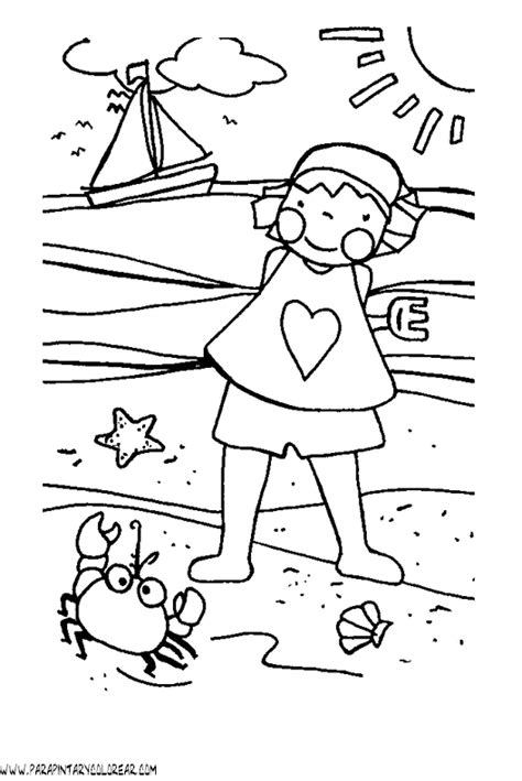dibujos infantiles para colorear del verano dibujos de verano para colorear 106