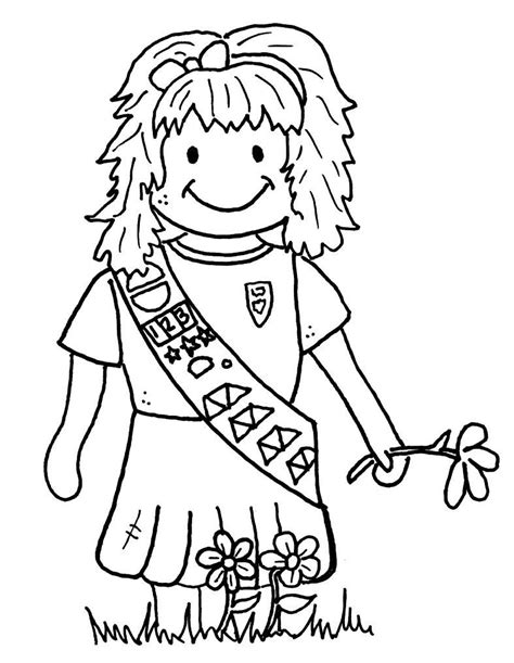 Scout Brownies Coloring Pages Free Girl Scout Brownies Coloring Pages Az Coloring Pages