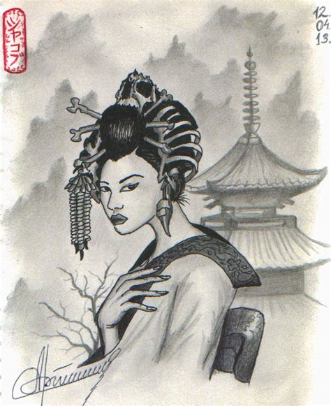 japanese geisha drawings geisha japan by orlan 21 on deviantart