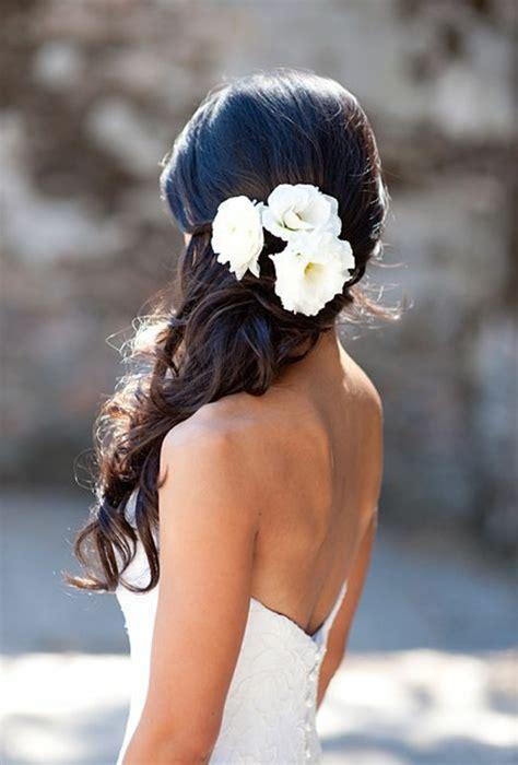 Brautfrisur Braune Haare by Brautfrisur Mit Blumen 44 Einmalige Fotos Archzine Net