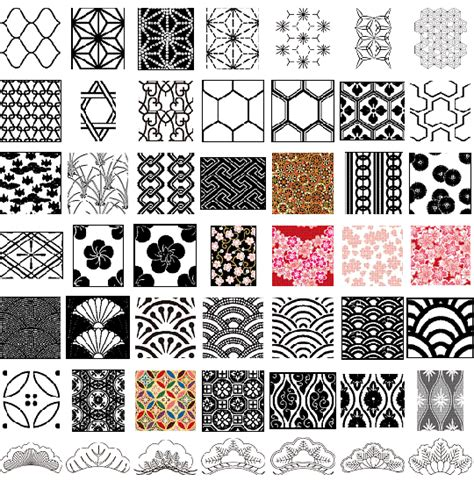 japanese pattern eps vector japanese patterns