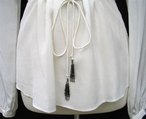 20838 Import Soft Velvet Casual Dress Belt Waist t tahari by elie tahari ivory silk potter ruffled blouse