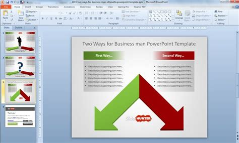 powerpoint multiple templates for one presentation free two ways business decision template for powerpoint