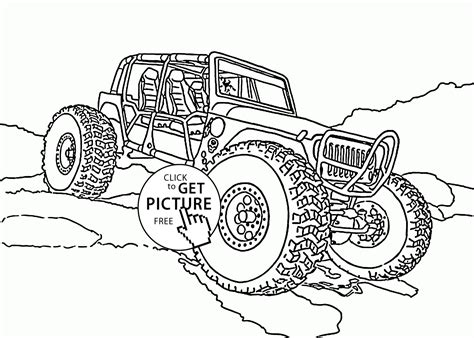 mini monster truck coloring page  kids transportation