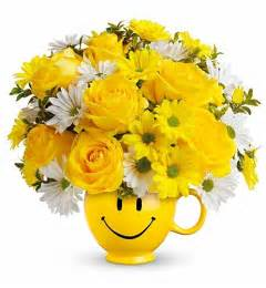 Thank You Gift Basket Be Happy Bouquet Flower Bouquets A Smile Inspiring Bouque