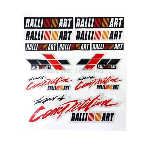 mitsubishi ralliart stickers popular ralliart stickers buy cheap ralliart stickers lots