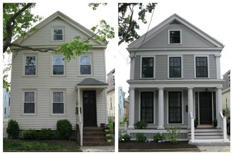 our cottage exterior before after an cottage revival exterior renovation