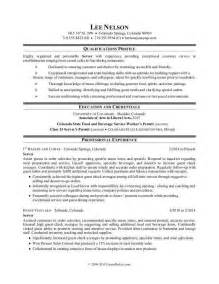 Resume For A Restaurant by Resume Sle Resume For A Restaurant Server Jobloving Your Number One Source For