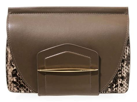 Found A Perfectly Chic Python Leather Clutch by Ricci Leather And Snake Effect Clutch Scaling New