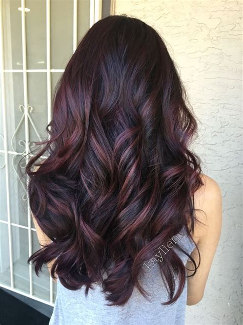 what hair dye color is plum brown everything you need to know about plum hair dailybeautyhack