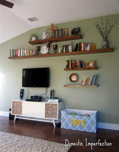 shelves for living room pre blog living room floor shelves domestic imperfection