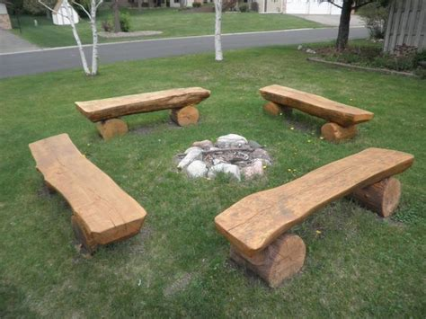 wooden fire pit bench 588 best log furniture images on pinterest
