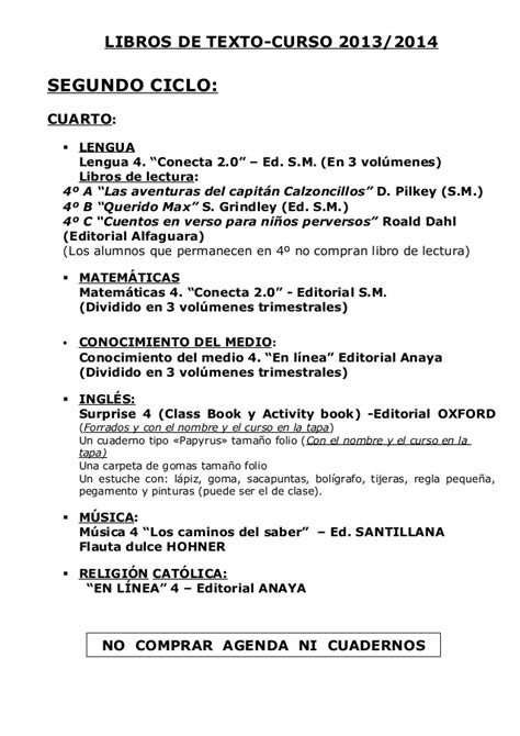 Libros de texto 2013 2014