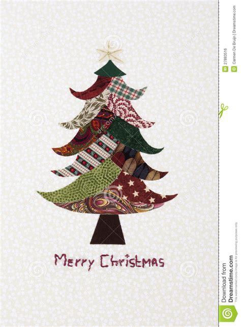 193 rbol de navidad hecho a mano de la tela bordado foto de