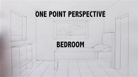 draw   bedroom   point perspective step