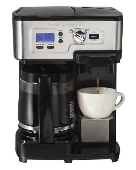 Hamilton Beach 49983 2 Way Brewer 12 Cup CoffeeMaker Coffee Singe Cup LCD w/Mug   eBay