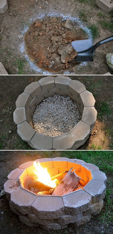 Repinned Build Your Own Fire Pit King Ranch Pinterest Make Your Own Firepit