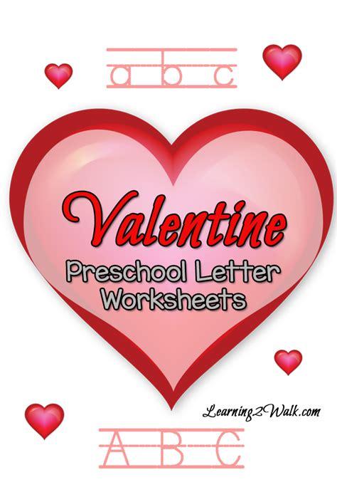 free printable valentine letters free valentine preschool letter worksheets printable pack