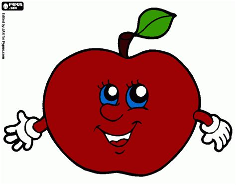 imagenes animadas manzana manzana roja para colorear manzana roja para imprimir