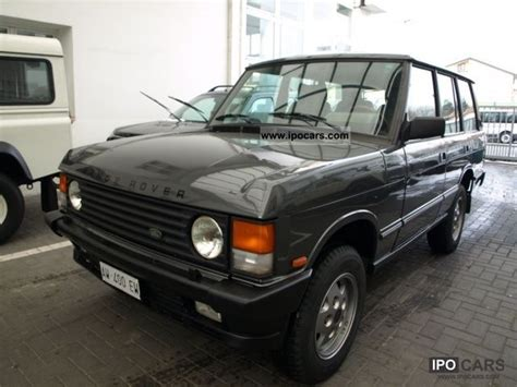 how make cars 1993 land rover range rover classic electronic valve timing 1993 land rover range rover 3 9 vogue se car photo and specs