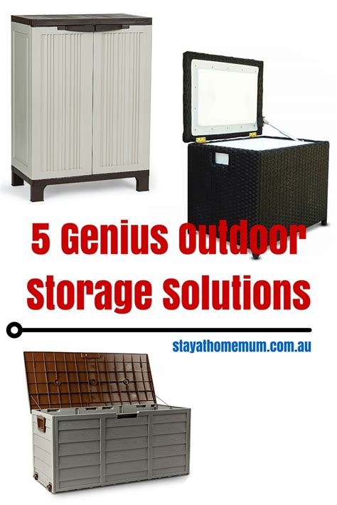 home storage solutions 5 genius outdoor storage solutions stay at home mum