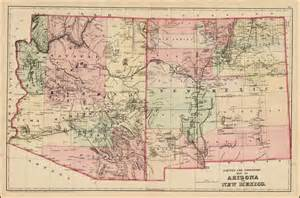 arizona and new mexico map county and township map of arizona and new mexico barry