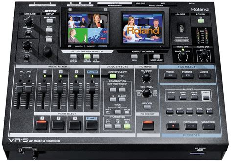 Roland Vr 5 vr 5 roland anuncia su av mixer recorder con salida