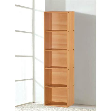 Hodedah 5 Shelf 59 In H Beech Bookcase Hid25 Beech The Beech Bookshelves