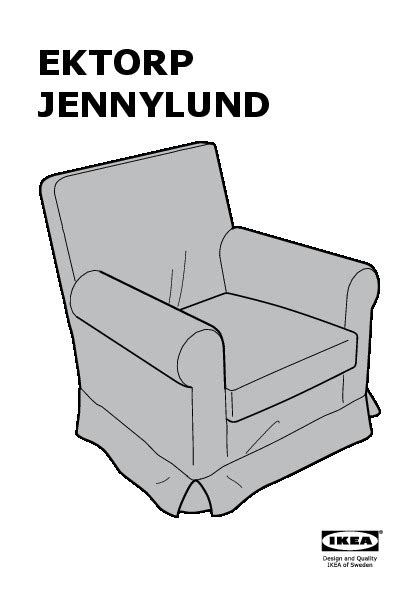 ikea poltrona ektorp ektorp jennylund housse de fauteuil byvik multicolore
