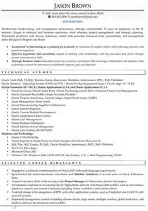 Technology Project Manager Sle Resume by Resume Sles For Information Technology Success Code