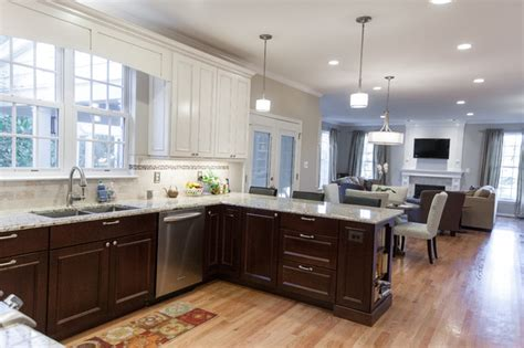 Kitchen Cabinets Lower Light by Leesburg Kitchen Family Room Deck Transitional Kitchen Other Metro By Synergy Design