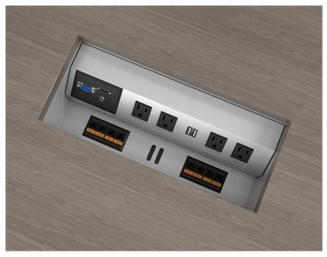 desk outlets power and data distribution desk outlets power and data under desk outlets mount to