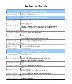 conference agenda template meeting agenda template word templates