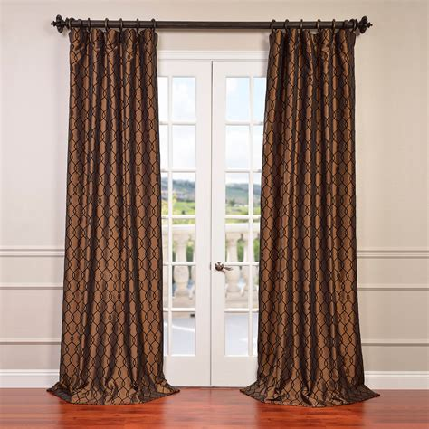 curtain outlet online shop online meridian copper brown flocked faux silk curtain