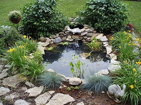 Small Garden Plants Ideas Small Pond In Front Yard Ponds Pond Ideas Walkways And Ducks