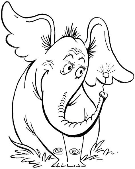 coloring pages horton the elephant how to draw horton hears a who from dr seuss s book in