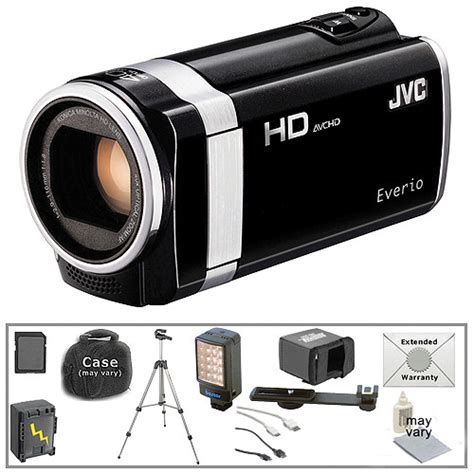 format video everio jvc jvc gz hm670 hd everio camcorder with deluxe accessory kit b h