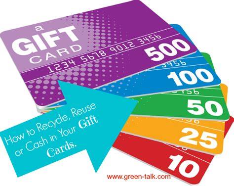 How To Cash Out Gift Cards - how to recycle reuse or cash in your gift cards green talk 174