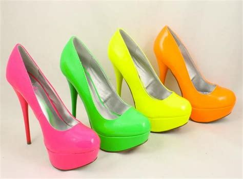 neon color high heels neon high heels for a neon wedding the bright