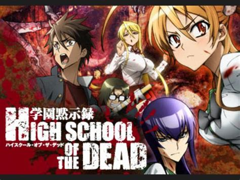 anime zombie school ranking de parejas anime high school of the dead listas