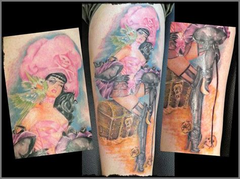 pin up doll tattoos pin up 2011 by psycho doll studio