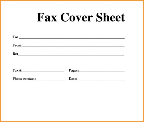 free printable fax cover sheet template pdf word