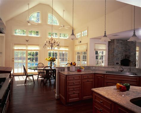 best cool kitchen lighting ideas for vaulted ceilin 24706