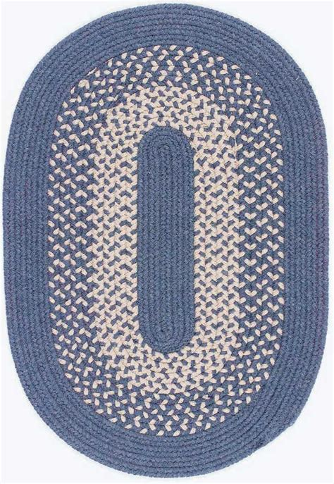 Clearance Braided Rugs by Colonial Mills Jackson Jk50 Federal Blue Area Rug