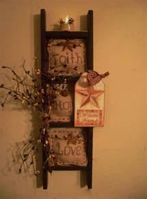 Primitive Home Decorations by Primitive Ladder Decor