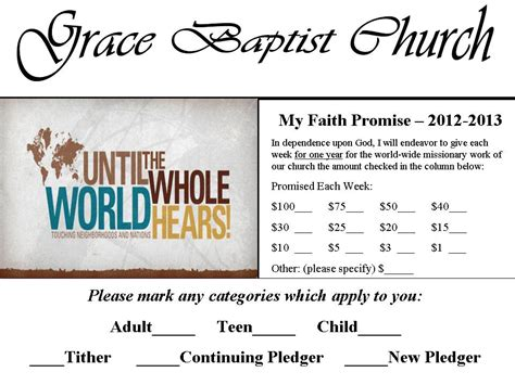 pledge card template for church custom card template 187 pledge card template for church